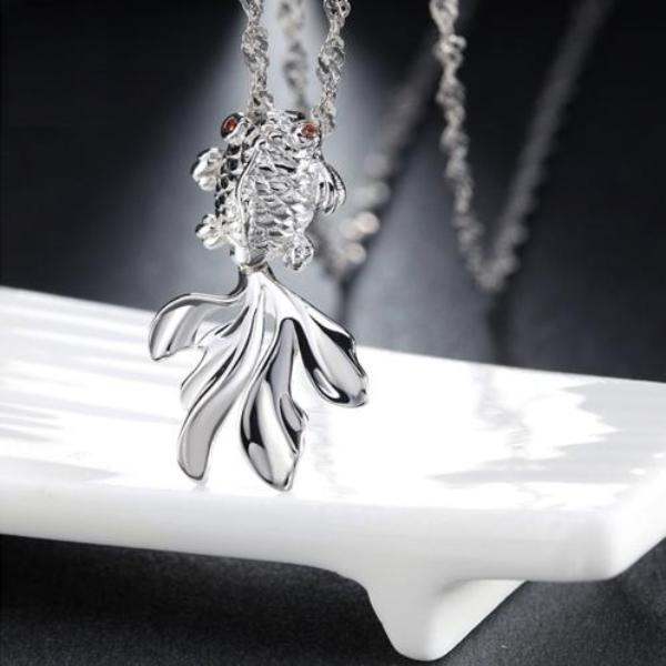 Sterling Silver Goldfish Necklace