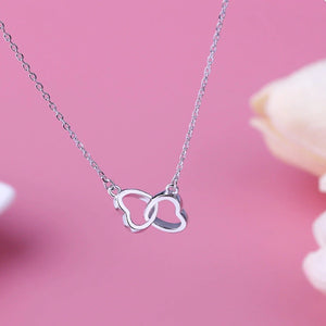 Tiny Two Heart Necklace