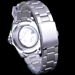 Rollie Watch Back. Mens Stainless Steel Sports Watch.