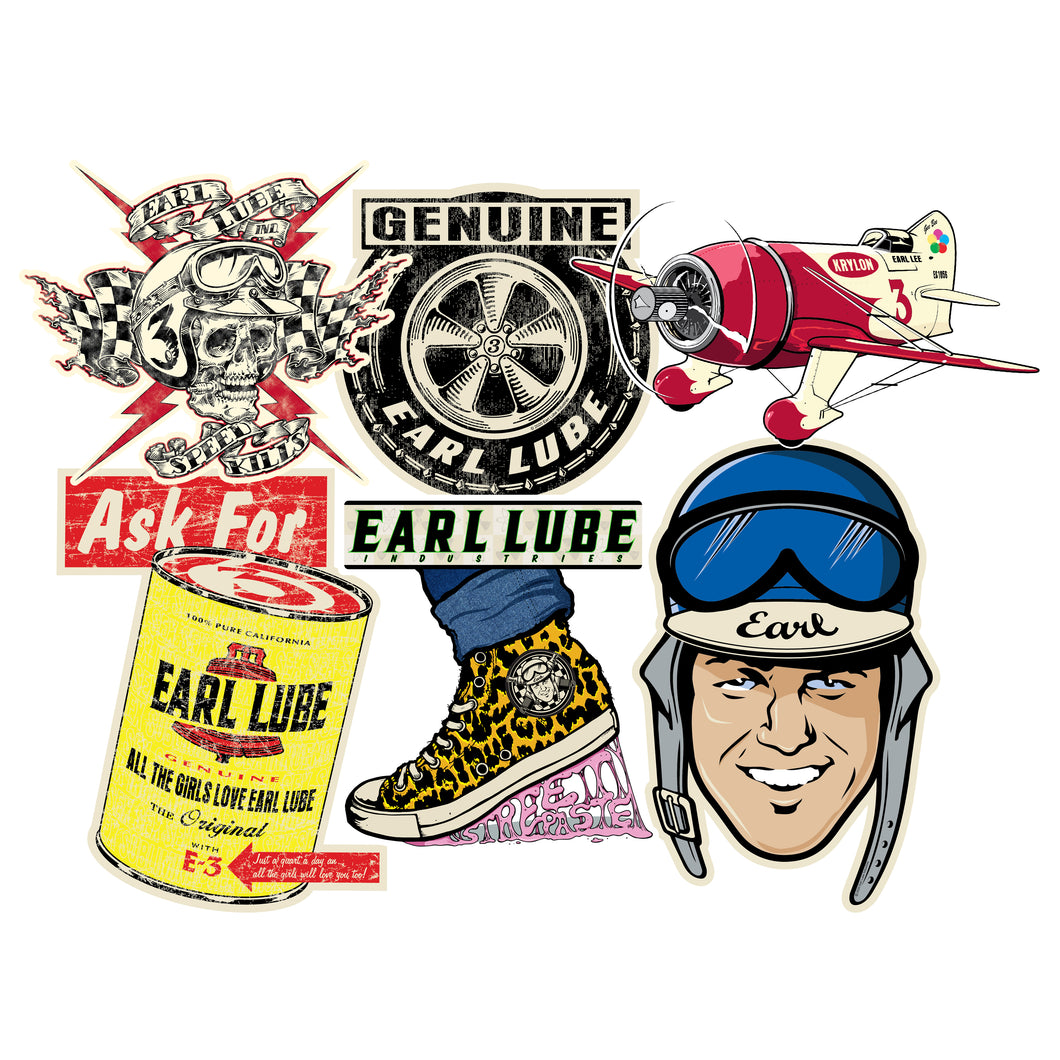 Earl Lube Sticker Pack