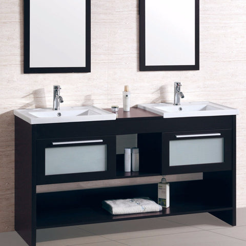 double vanity with two mirrors. legion furniture wt9118-r double vanity with two mirrors
