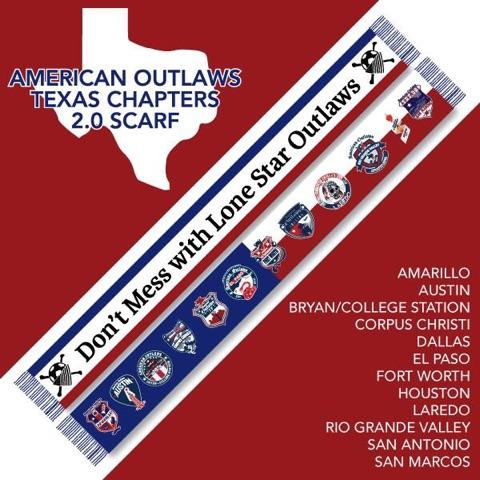 Texas Scarf - American Outlaws - El Paso Apparel