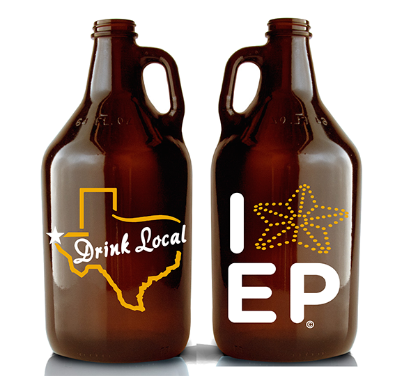 Drink Local El Paso Star Growlers - El Paso Apparel