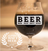 BEER- Brew Enjoy Empty Repeat - Craft Beer Belgian Glass - El Paso Apparel