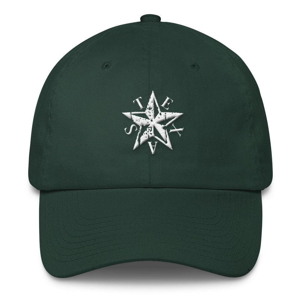 Texas Star Embroidered Cotton Cap - El Paso Apparel