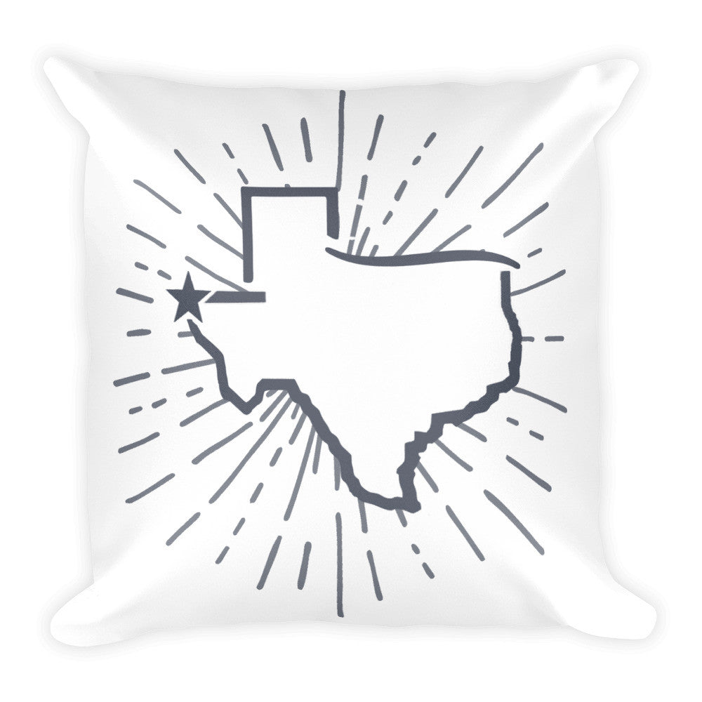 El Paso Star Burst Square Pillow - El Paso Apparel