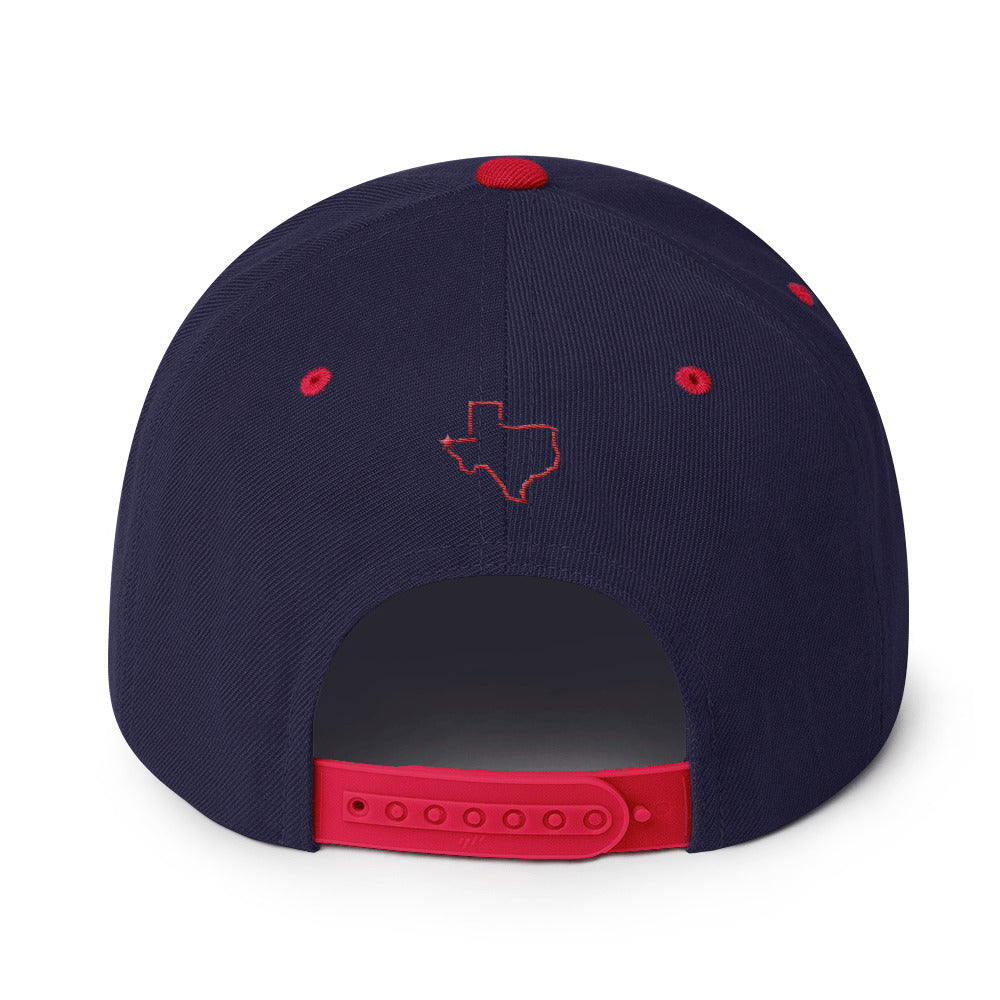 El Paso Ol School Red Blue Snapback Hat - El Paso Apparel