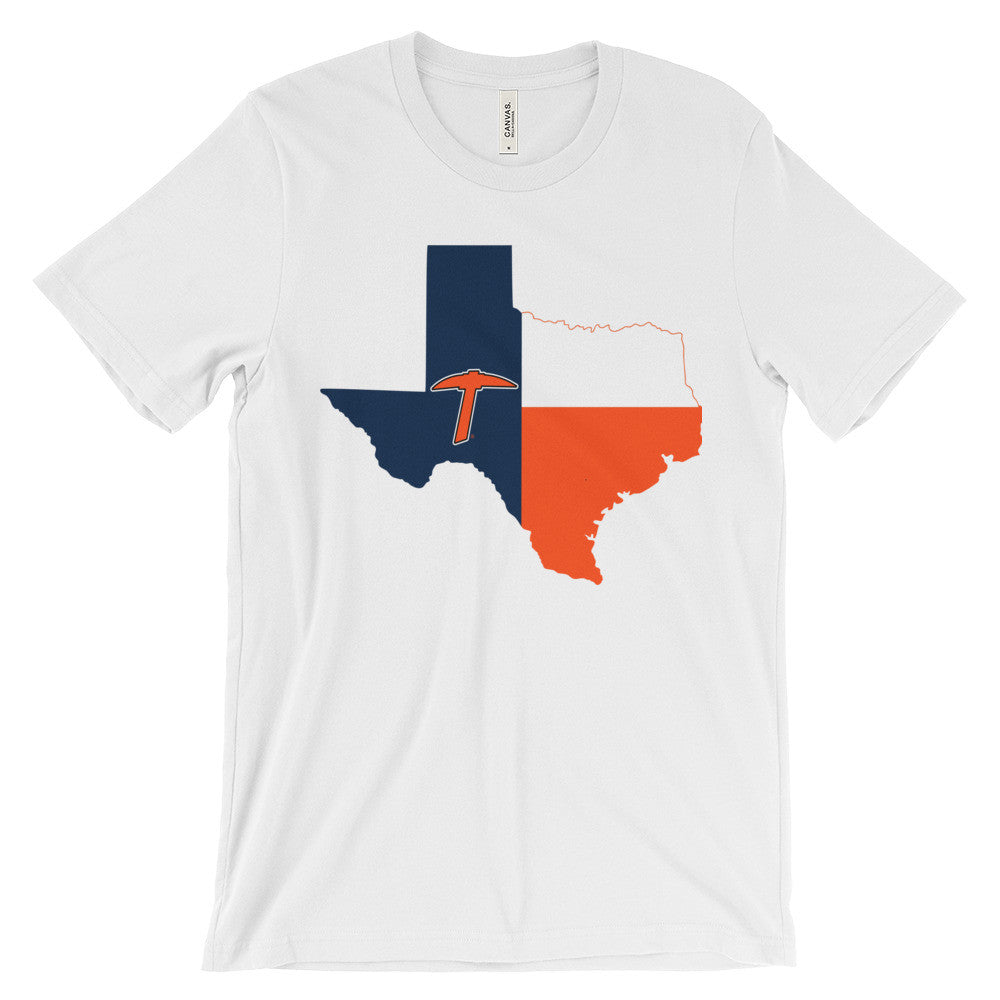 UTEP Pick Texas Flag Unisex short sleeve t-shirt - El Paso Apparel