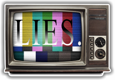 Lies TV Sticker