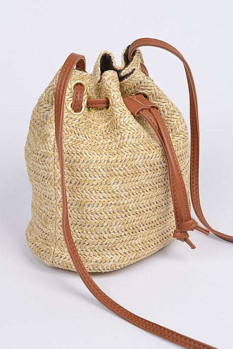 Straw Small Crossbody [2 Colors]