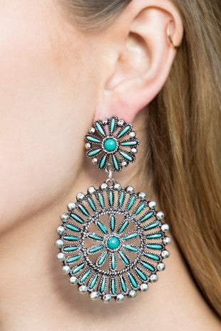 Beaded Western Earring