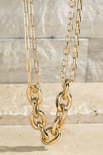 Gold Metal Chain Necklace
