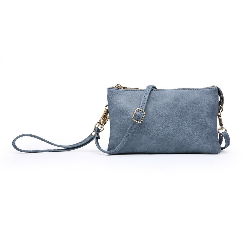 Indigo Zipper Crossbody