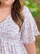 Lavender Floral Dress Curvy