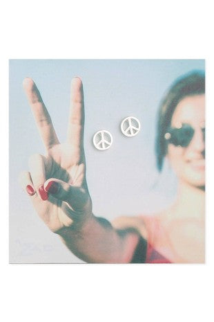 Peace Sign Stud