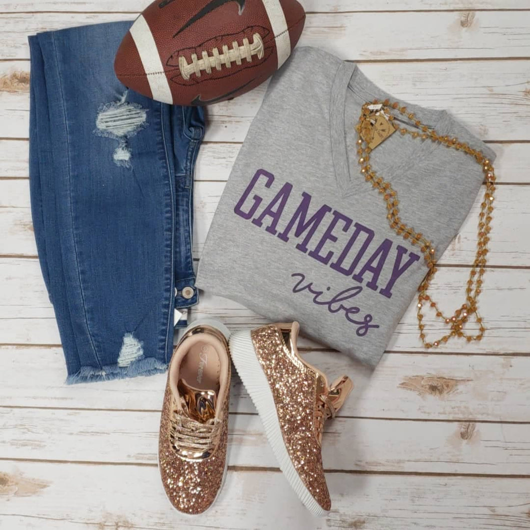 Gameday Vibes PURPLE  Tee