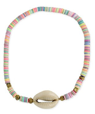 Rainbow Shell Anklet