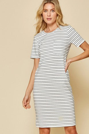 Nine to Five Striped Dress