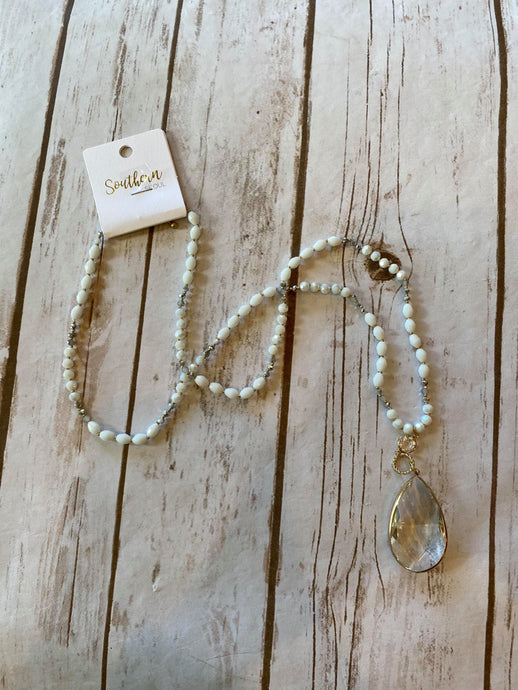 Clear as Day Crystal Necklace
