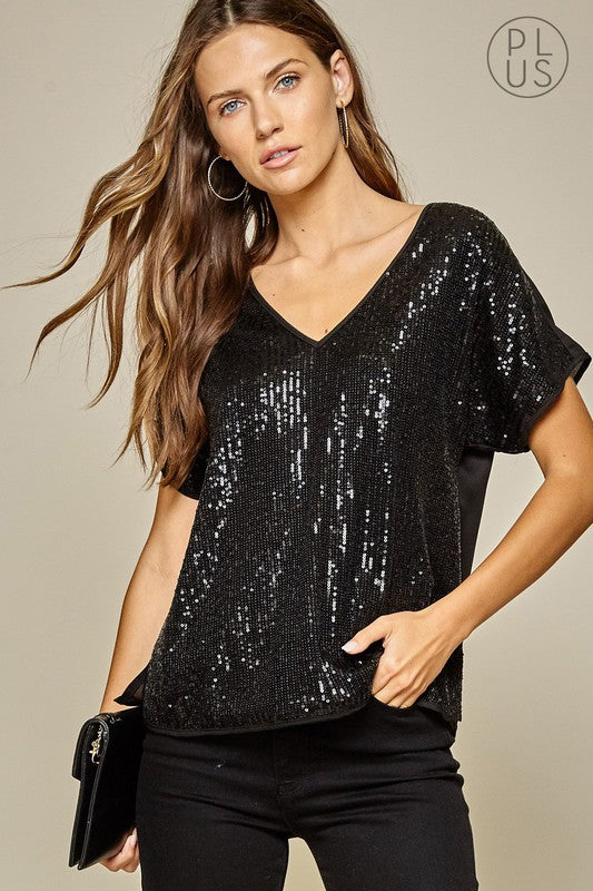 Sparkle and Shine Curvy Top