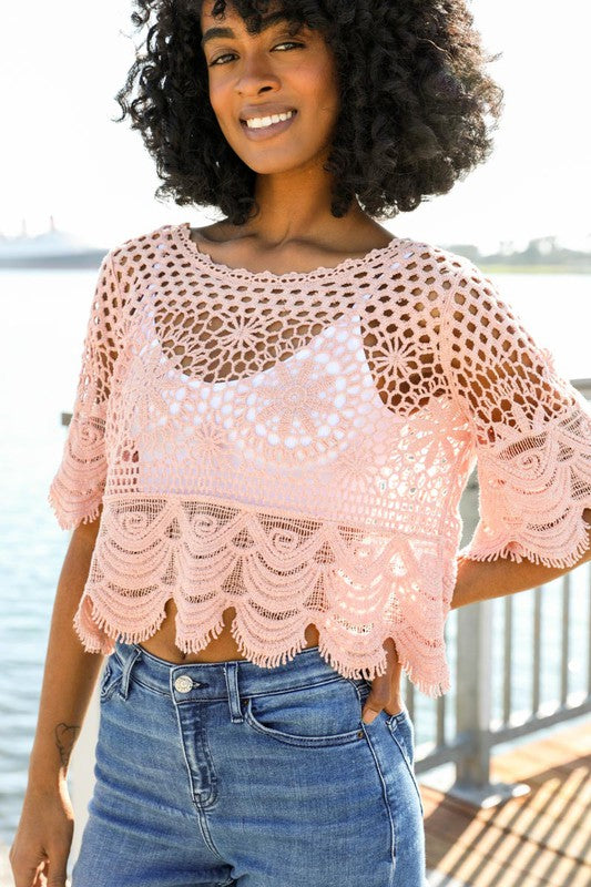 Rose Crochet Crop