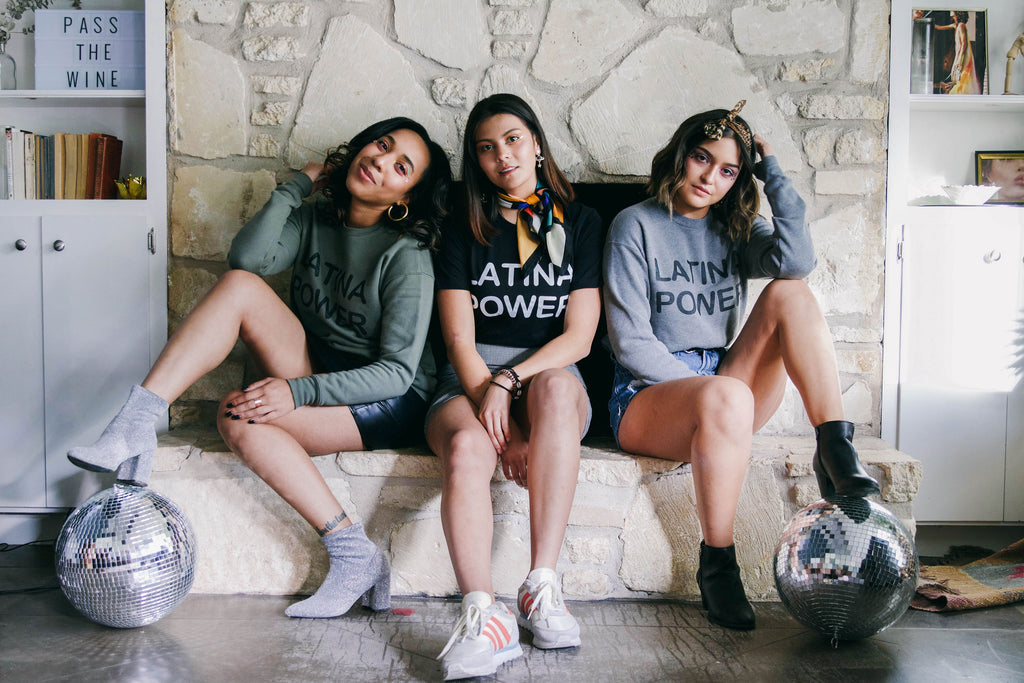 Latina Power Gray Sweatshirt