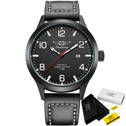 Premium Men's Leather Pilot Watch
