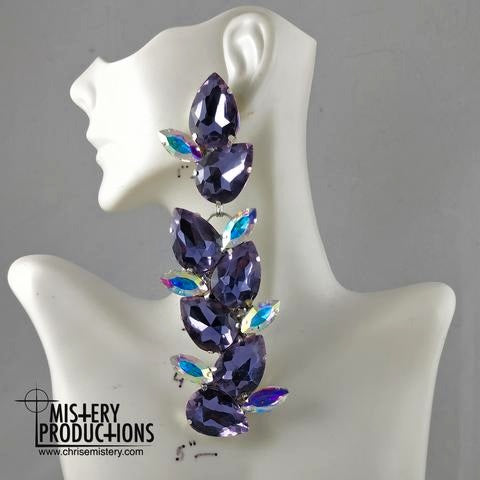 Amethyst / AB Vine Dangle Earrings