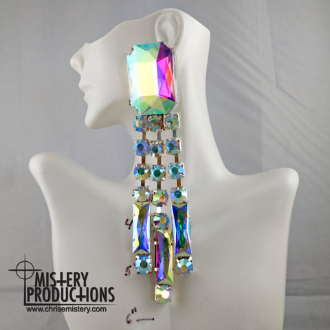 AB Mega Stone Chandelier Earrings