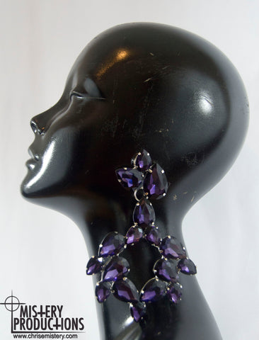 Amethyst Big Earrings