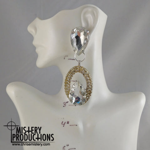 Crystal Negative Dangle Earrings