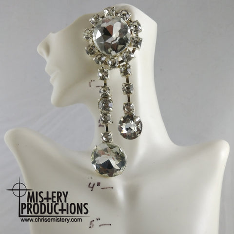 Crystal Double Dangle Earrings