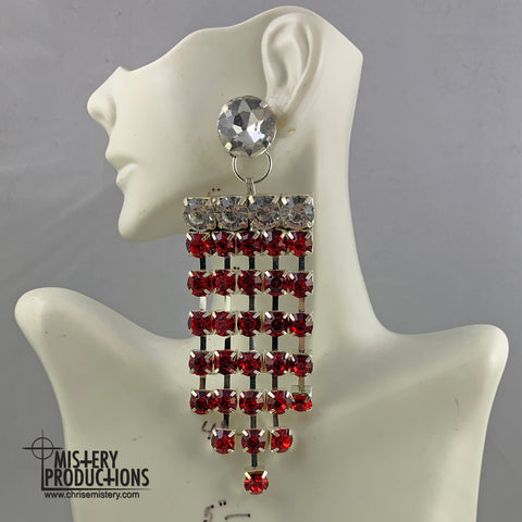 Siam / Crystal Chandelier Earrings