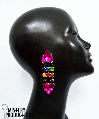 Pride Pink Triangle Earrings