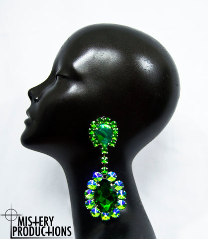 Emerald / Picasso Stone Earrings