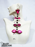 Fuscia Dangle Earrings