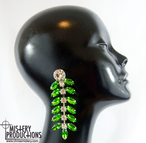 Emerald Centipede Earrings