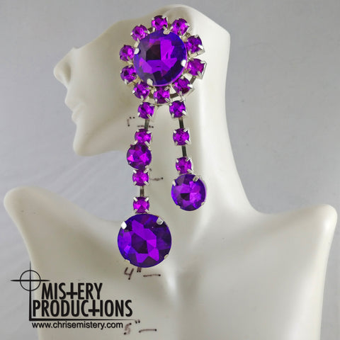 Grape Double Dangle Earrings