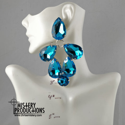 Lake Blue Dangle Earrings