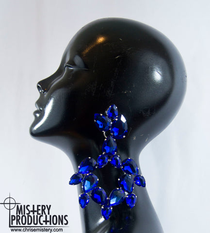 Sapphire Big Earrings