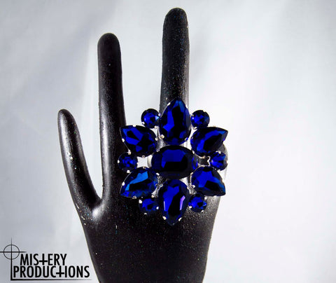 Large Sapphire Stretch Ring