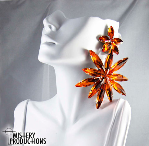 Orange Star Earrings