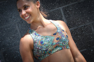 Harmony Inspired - Pretty Peacock Sports Bra