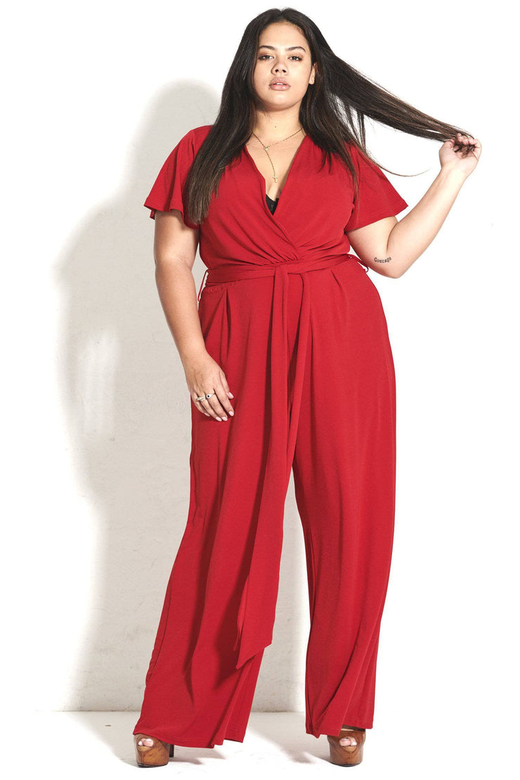 Cleo Red Jumpsuit