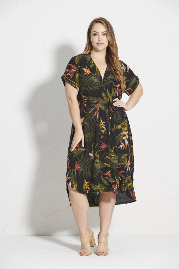 Juno Shirt Dress - Paradiso