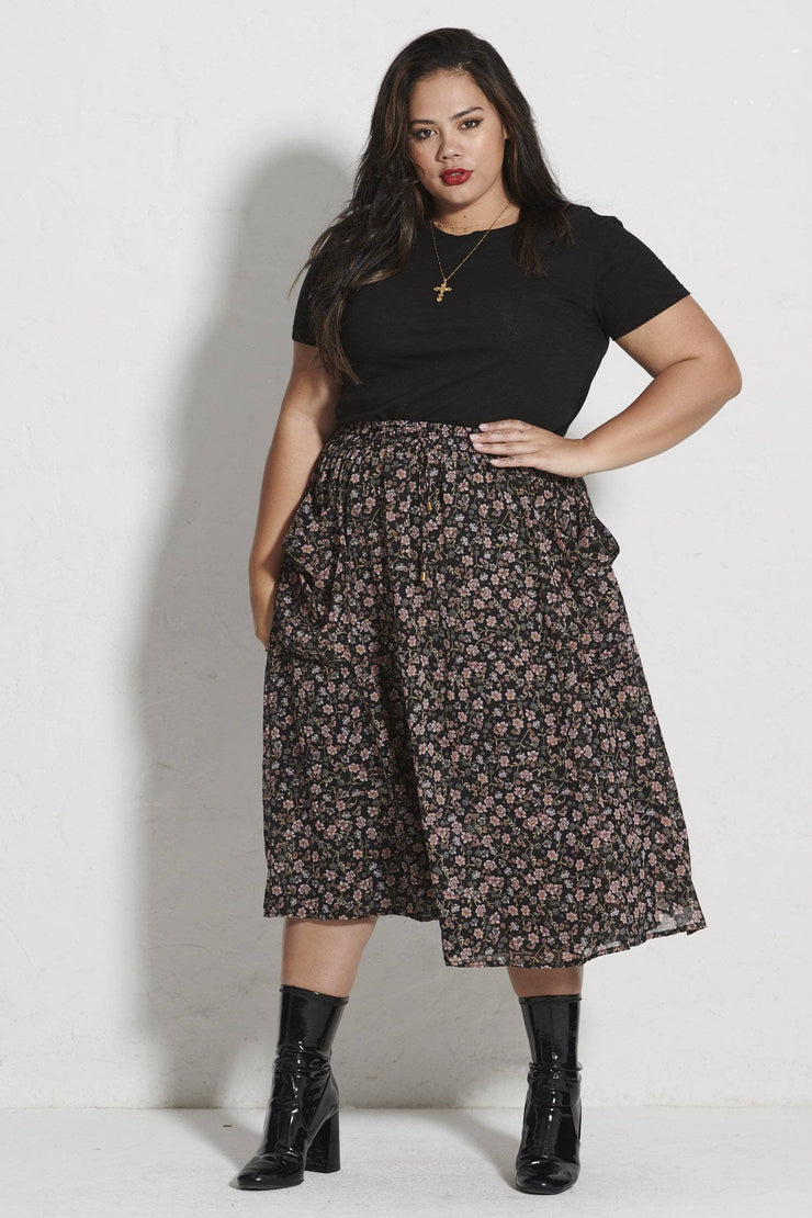 Aster Patch Pocket Skirt