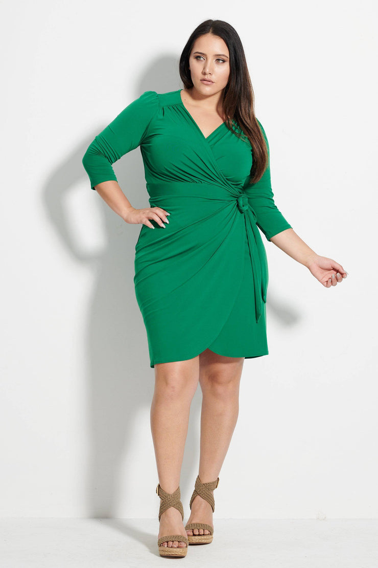 Cleo Wrap Dress Green