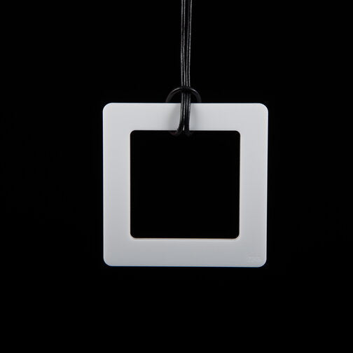 Large White Square Necklace