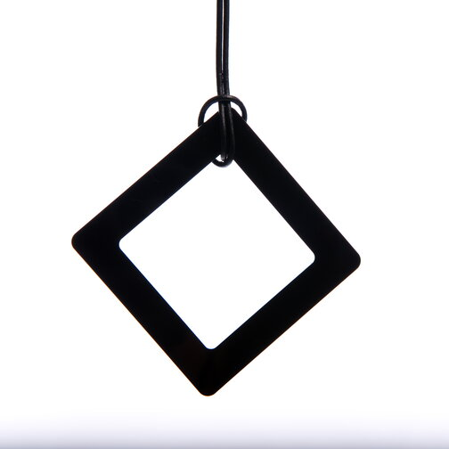 Large Black Square Necklace