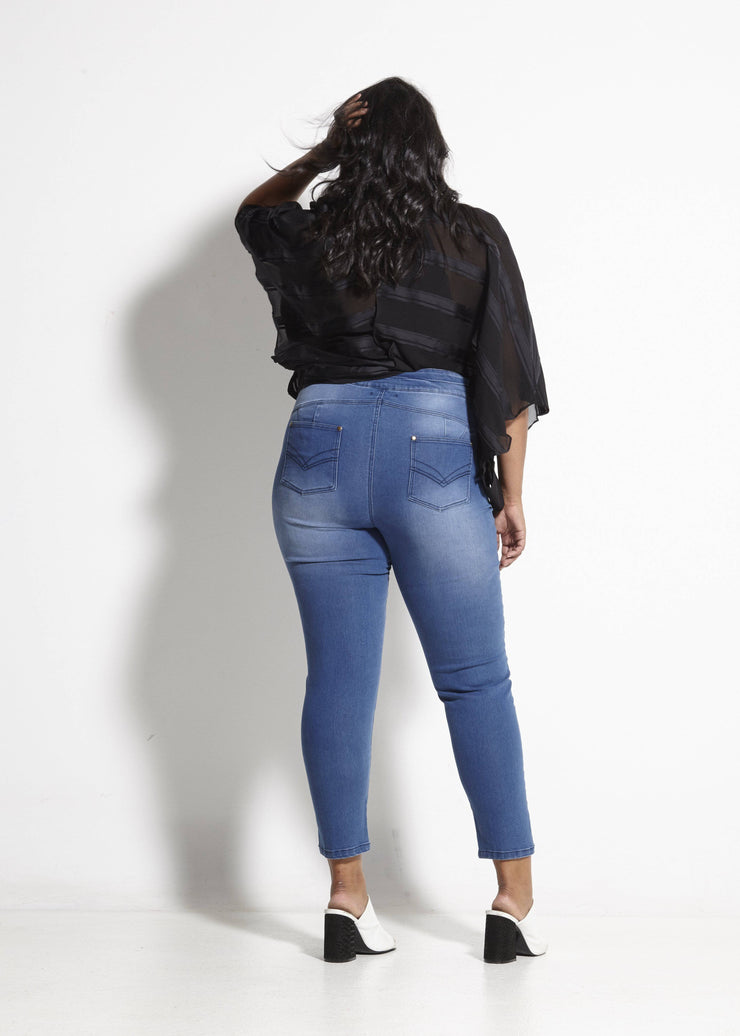 Wildflower Vintage Jean- Blue Denim